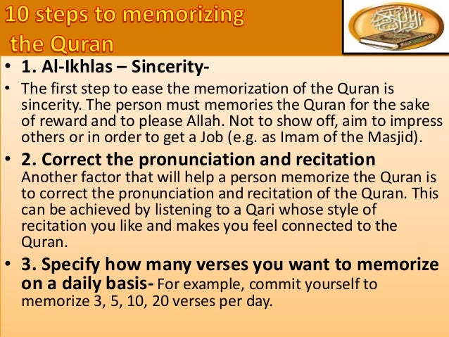 • It signifies your grasp of the general messages and teachings of Quran. • You understand the demands which this message ...