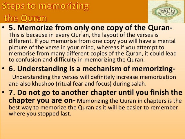 • You try to find the full meaning of every word, ayah and surah • You explore deep meanings of parables, textual cohesion...
