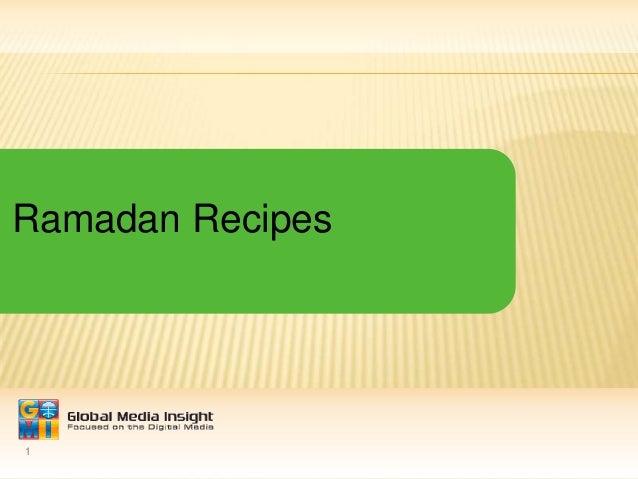1 Ramadan Recipes