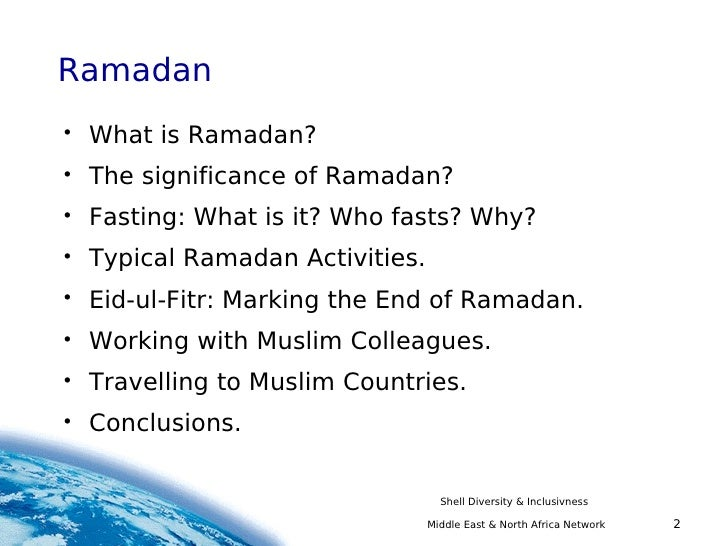 Ramadan slides prepared by shell middle east north africa network middle east north africa network diversity inclusivness 2 sciox Image collections