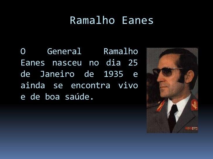 Ramalho Eanes Slide 3
