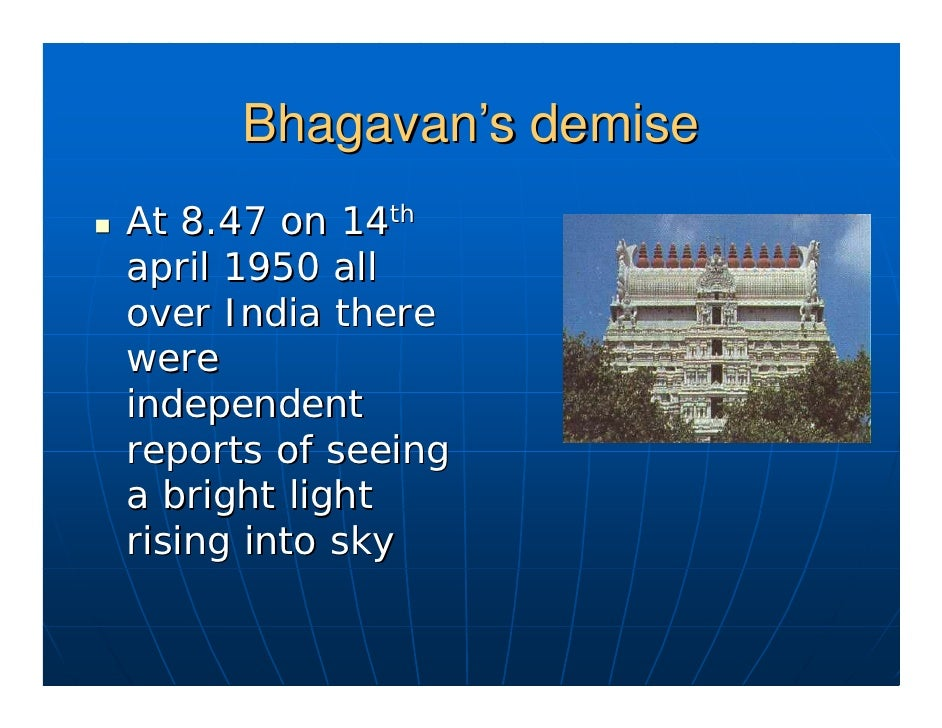 Bhagavan's demise as reported            by Henri Cartier- Bresson It is a most astonishing experience . I was in the open...