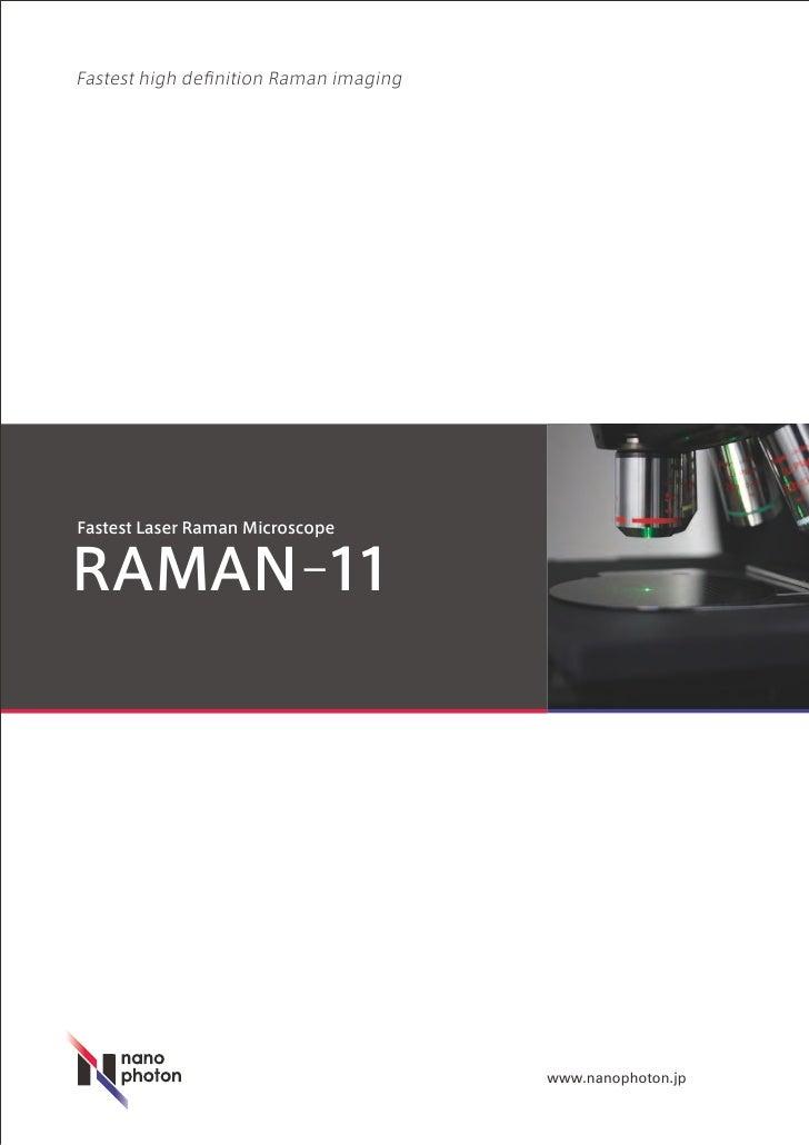 Fastest high definition Raman imaging     Fastest Laser Raman Microscope   RAMAN-11                                       ...
