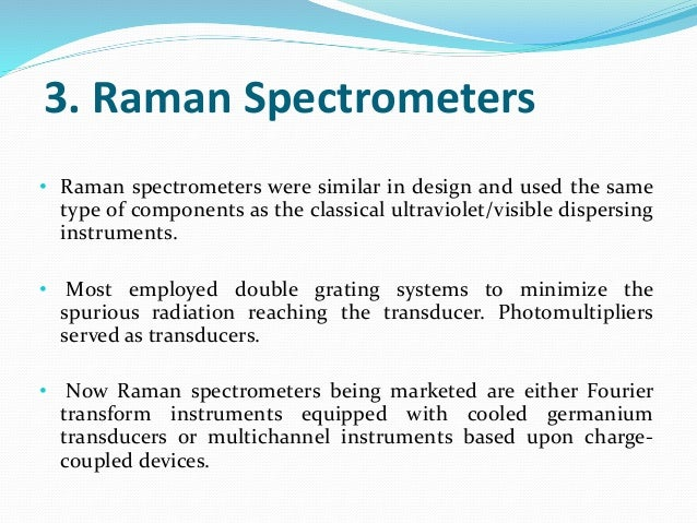 instrumentation of raman spectroscopy pdf