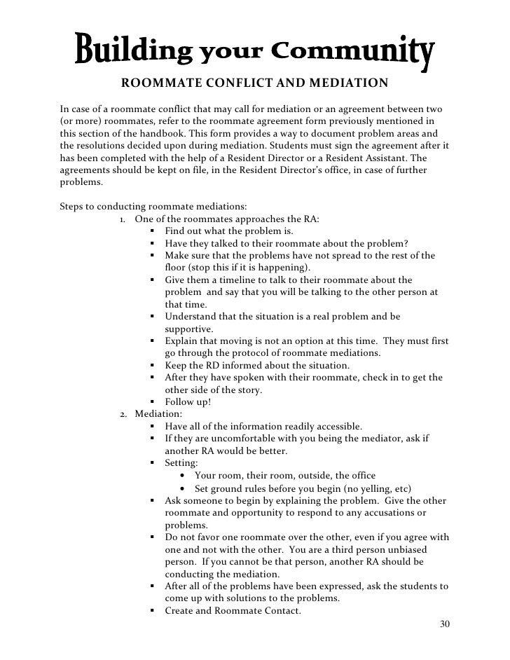 Standard Roommate Agreement Kubreforic