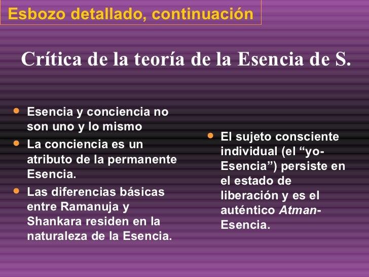 Esbozo detallado, continuación <ul><li>Esencia y conciencia no son uno y lo mismo </li></ul><ul><li>La conciencia es un at...