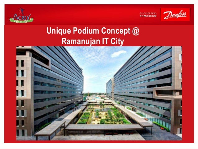 Ramanujan It City Chennai 100 Recycled Water Used For