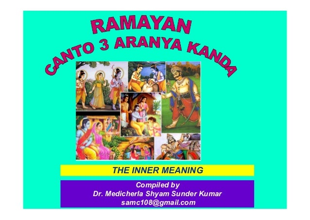 Ramayana Conto 3 Aranya kanda Inner meaning