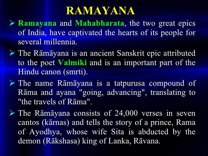 ramayana and mahabharata story