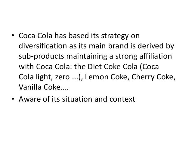 product differentiation in coca cola Now people in more than 200 countries drink 19 billion servings every day, according to the coca-cola company having a product people enjoy is far from the only.