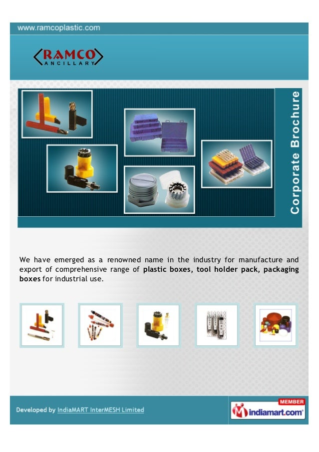 We have emerged as a renowned name in the industry for manufacture andexport of comprehensive range of plastic boxes, tool...