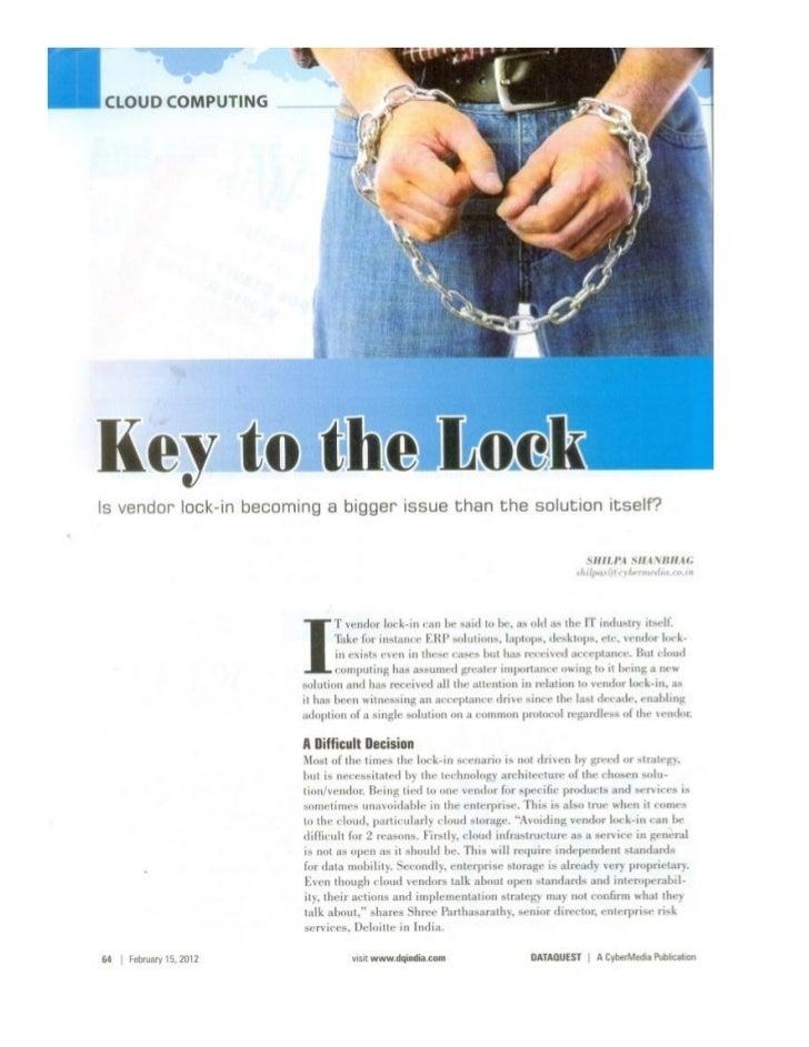 Cloud Computing - Key to the lock