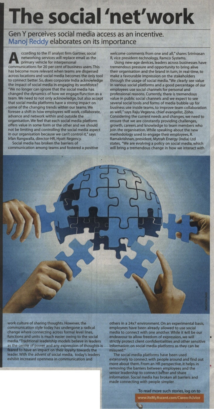 Ramco Systems Featured in Times of India - The Social 'Net' Work