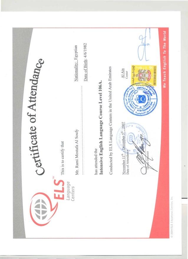 english certificate slideshare