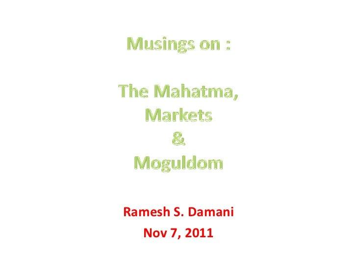 RameshS.Damani  Nov7,2011