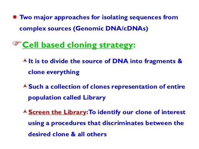 Complementary DNA (cDNA) Libraries