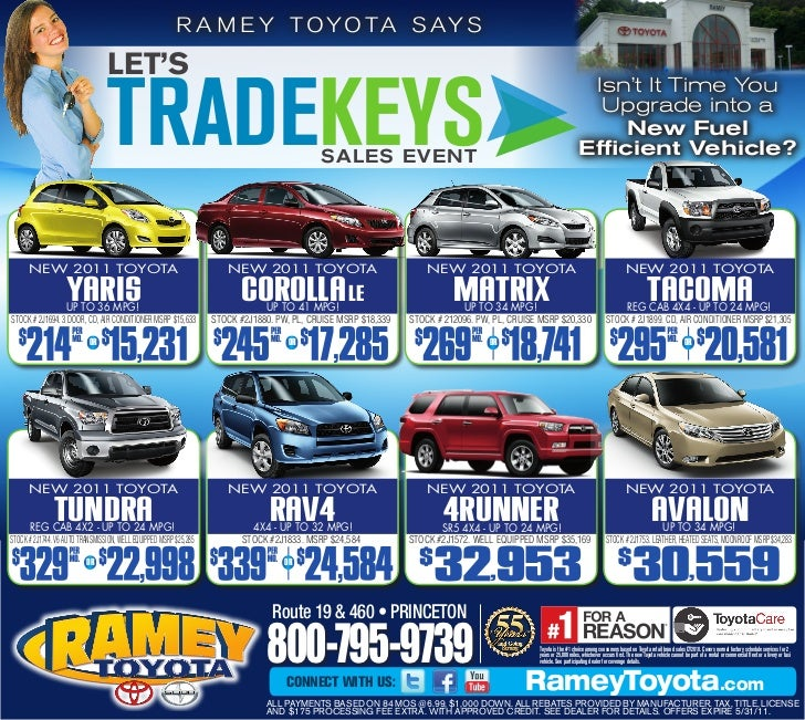 Let 39 s trade keys ramey toyota princeton wv for Ramey motors princeton wv