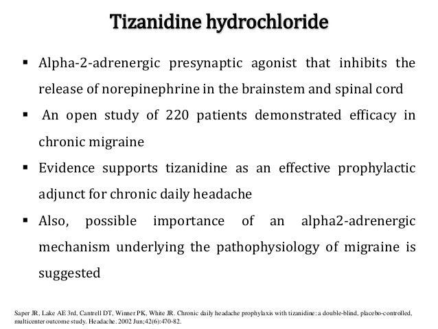 Zanaflex Dosage For Migraines