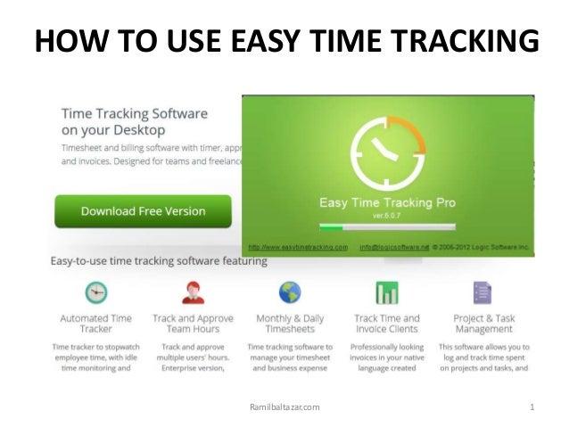HOW TO USE EASY TIME TRACKING 1Ramilbaltazar.com
