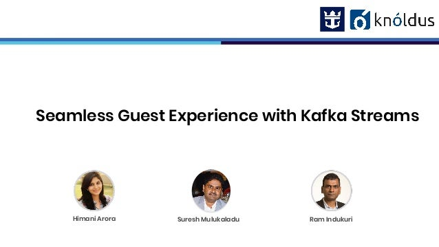Seamless Guest Experience with Kafka Streams Ram IndukuriHimani Arora Suresh Mulukaladu