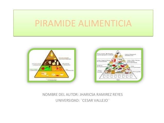 PIRAMIDE ALIMENTICIA NOMBRE DEL AUTOR: JHARICSA RAMIREZ REYES UNIVERSIDAD: ¨CESAR VALLEJO¨