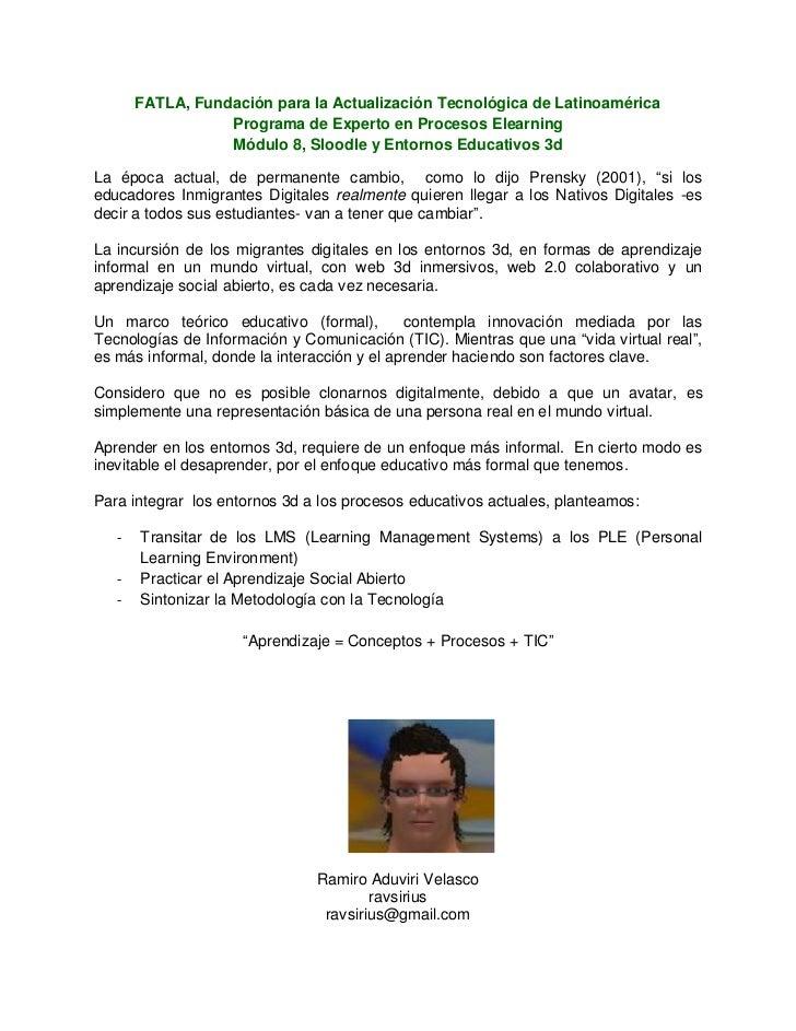 FATLA, Fundación para la Actualización Tecnológica de Latinoamérica                  Programa de Experto en Procesos Elear...