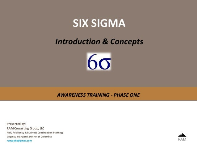 SIX SIGMA                                          Introduction & Concepts                                           AWARE...