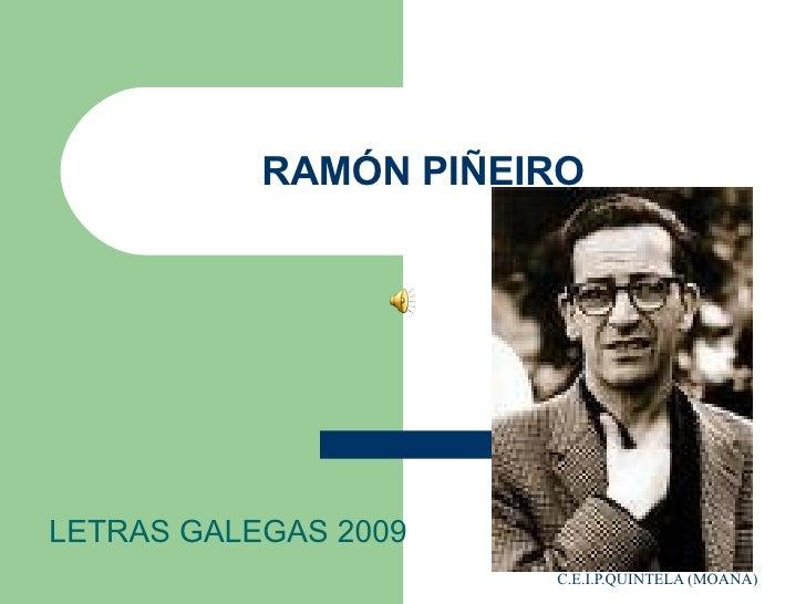 RAMÓN PIÑEIRO LETRAS GALEGAS 2009