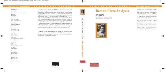 Últimos títulos Francisco Ayala Miradas sobre el presente: ensayos y sociología Rafael Dieste Obras literarias José Díaz F...