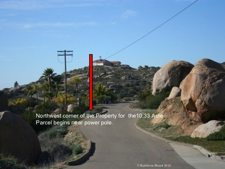 Northwest corner of the Property for the10.33 AcreParcel begins near power pole.                                       © K...