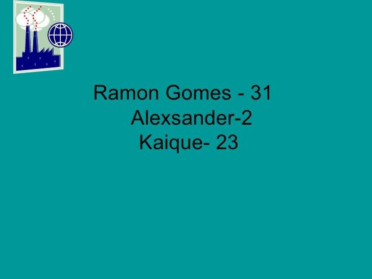Ramon Gomes - 31    Alexsander-2  Kaique- 23