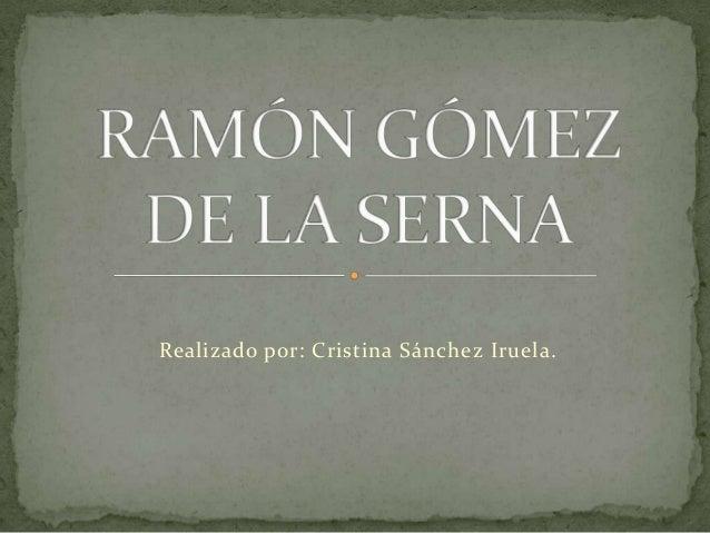 Realizado por: Cristina Sánchez Iruela.