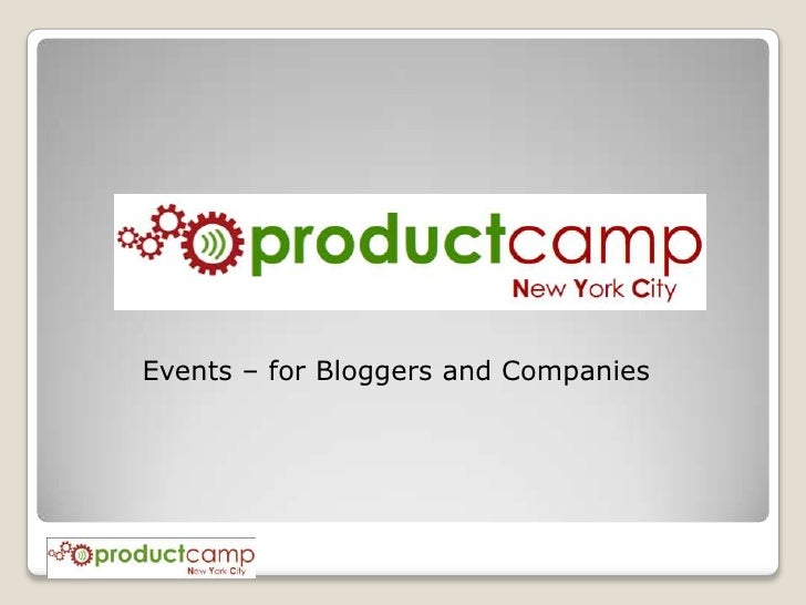 Events – for Bloggers and Companies<br />