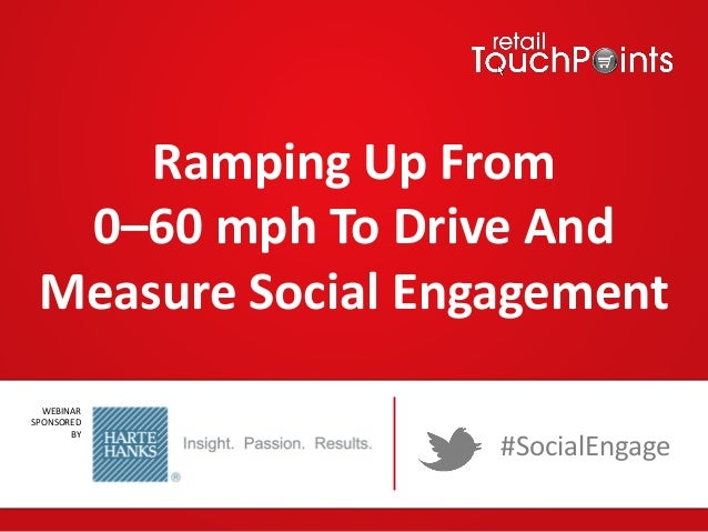Ramping Up From 0–60 mph To Drive And Measure Social Engagement WEBINAR SPONSORED BY  #SocialEngage