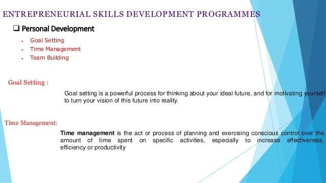 Entrepreneurship development programme.