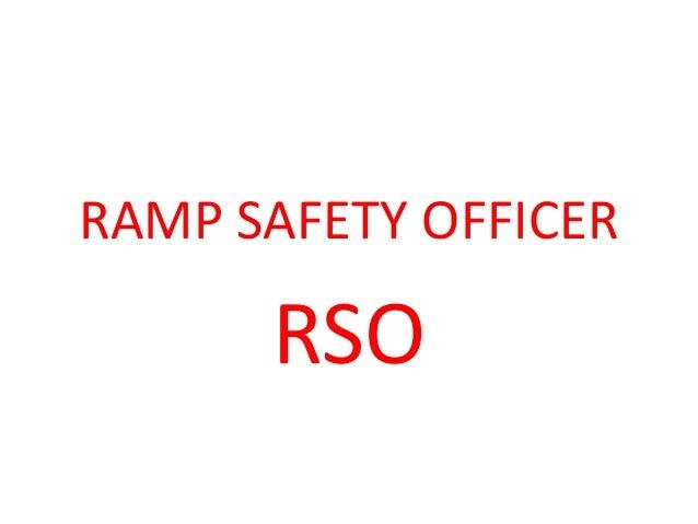 RAMP SAFETY OFFICER RSO