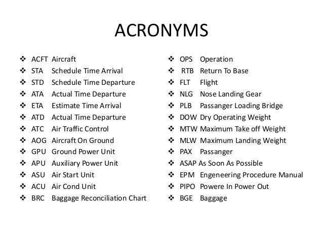 ata acronym aviation