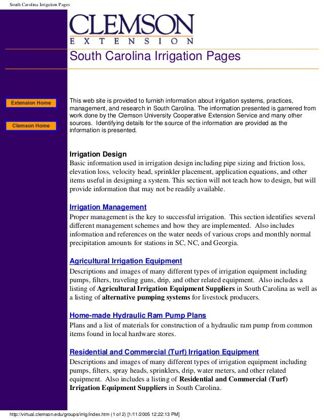 ... 47. South Carolina Irrigation ...