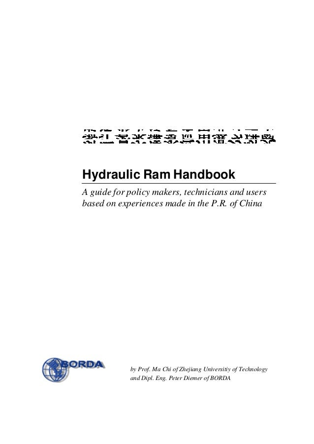 hydraulic ram handbook  a guide for policy makers  technicians and us u2026