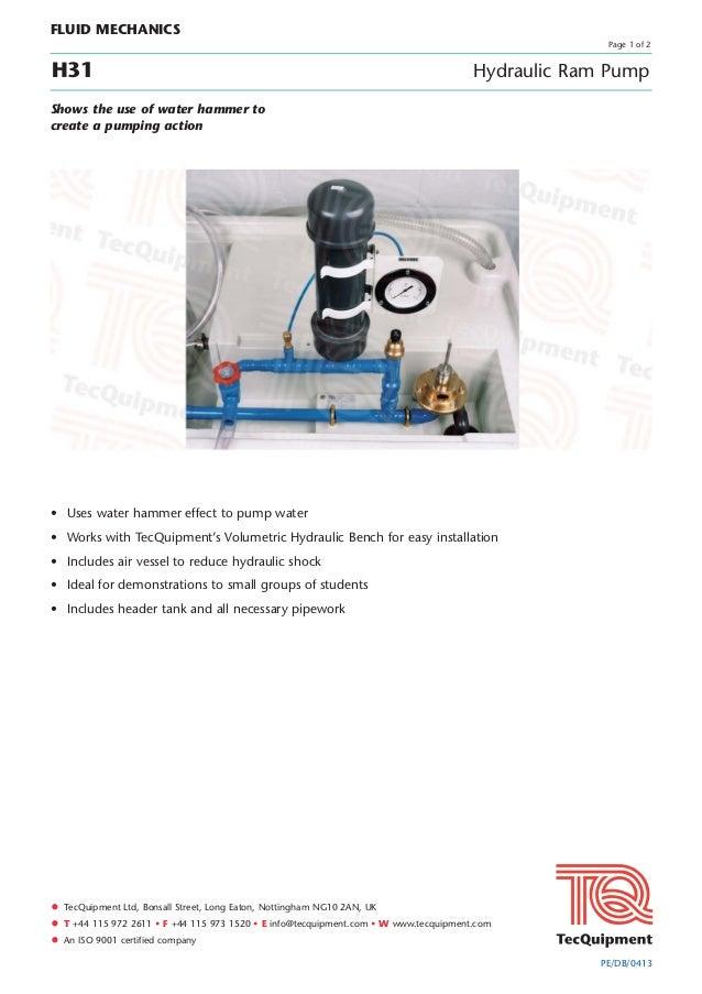 • TecQuipment Ltd, Bonsall Street, Long Eaton, Nottingham NG10 2AN, UK• T +44 115 972 2611 • F +44 115 973 1520 • E info@t...