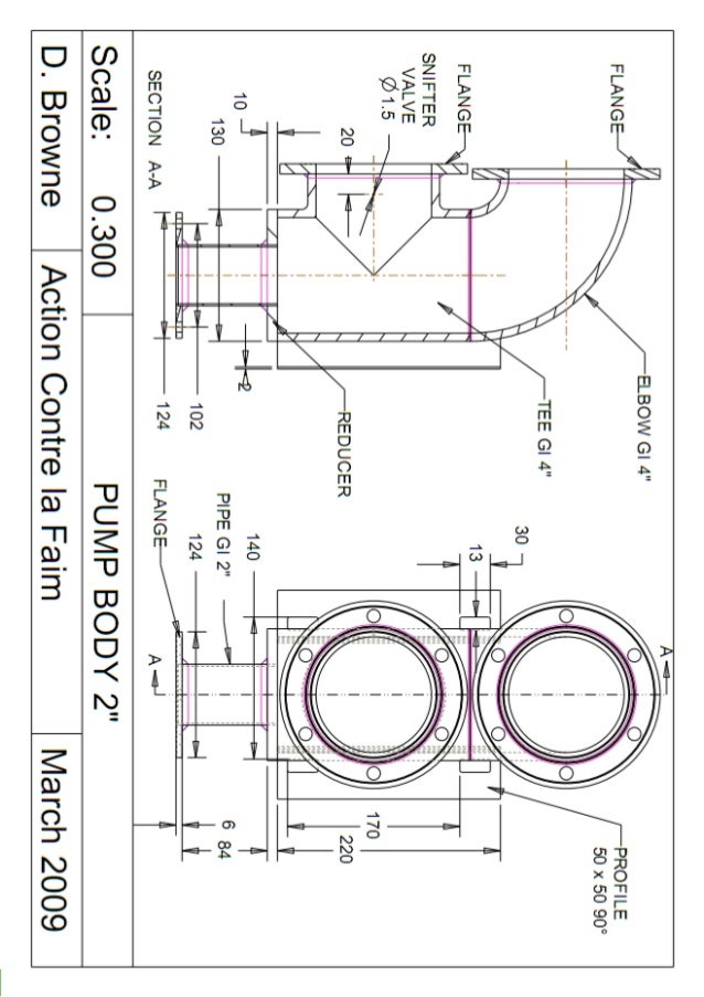 ram pump  design  sizing  construction and maintenance of gravity