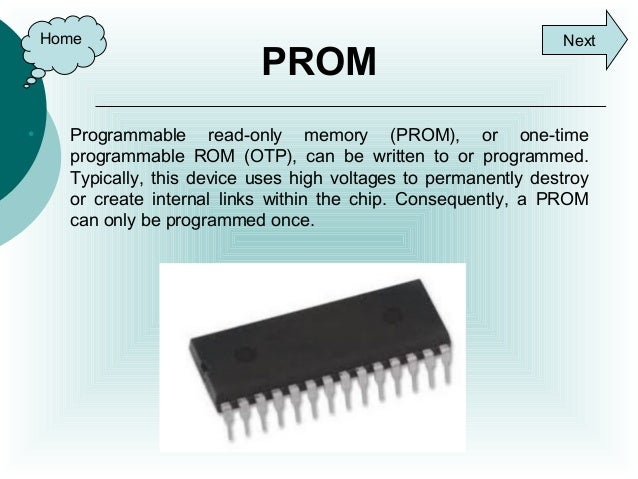 programmable read only memory applications