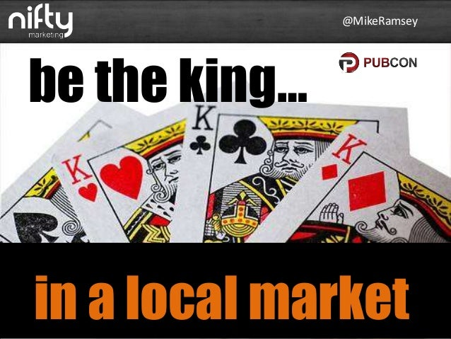 @MikeRamsey  be the king…  in a local market