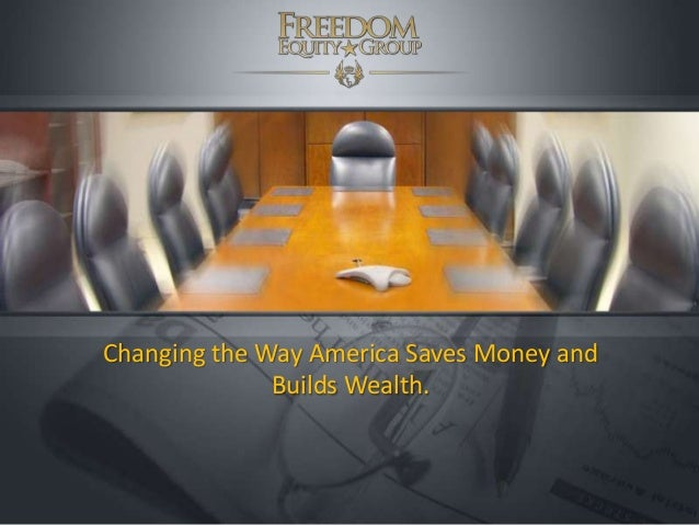 Changing the Way America Saves Money and Builds Wealth.