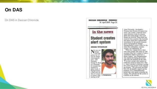 On DAS On DAS in Deccan Chronicle