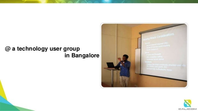 @ a cloud technology user group in BLR