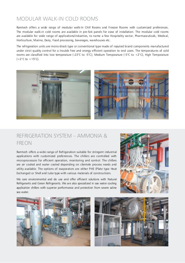 MODULAR WALK-IN COLD ROOMS Ramtech offers a wide range of modular walk-In Chill Rooms and Freezer Rooms with customized pr...