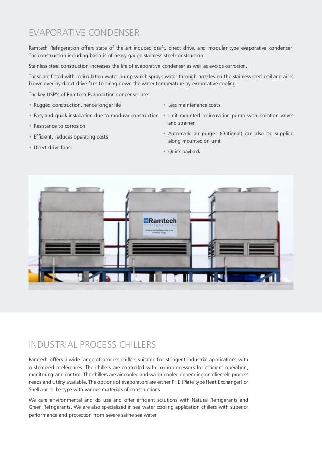 EVAPORATIVE CONDENSER Ramtech Refrigeration offers state of the art induced draft, direct drive, and modular type evaporat...