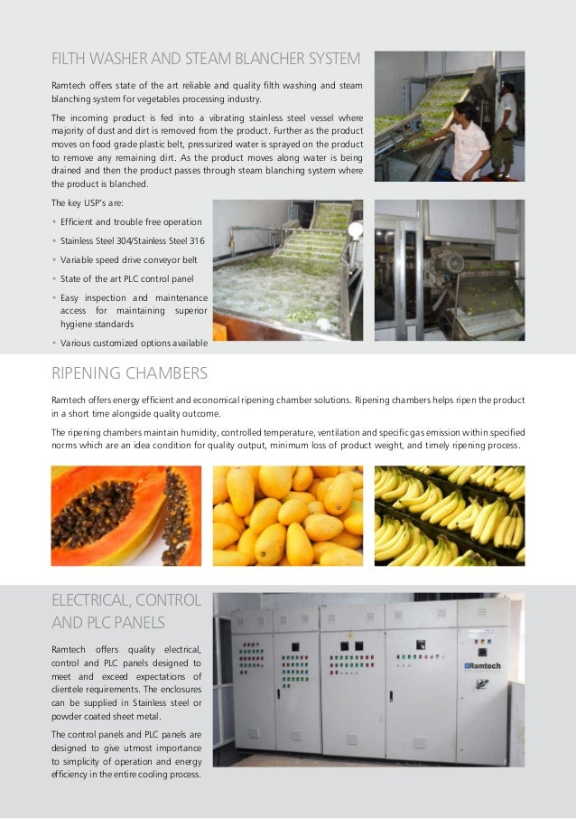 FILTH WASHER AND STEAM BLANCHER SYSTEM Ramtech offers state of the art reliable and quality filth washing and steam blanch...