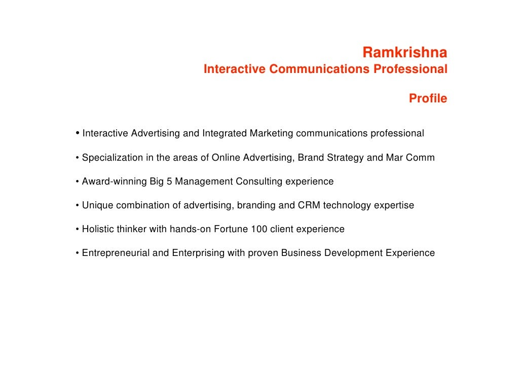 Ramkrishna                              Interactive Communications Professional                                           ...